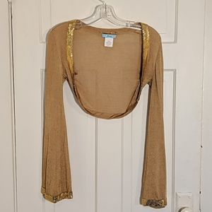 Gold Short Cardigan by Guess Marciano sz XS